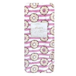 Oliver Heavy Weight Striped Donuts Throw Blanket